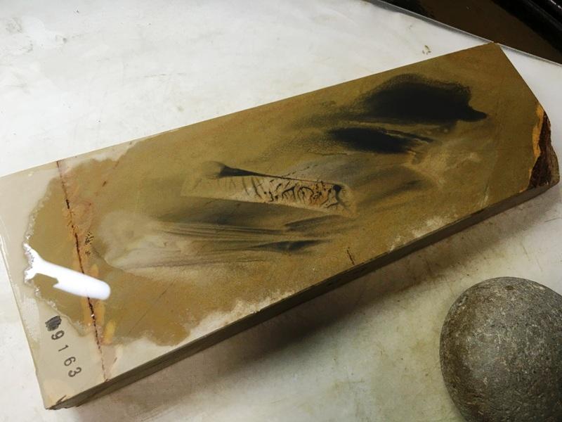 画像4: 天然砥石 正本山 山城銘砥中世中山 戸前烈梨地むしろ肌八寸40で六無地1.2Kg 9163