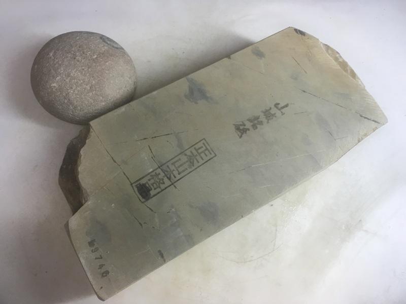 画像1: 天然砥石 正本山 山城銘砥京都市梅ケ畑産奥殿東からす大極上 1.6Kg 9746