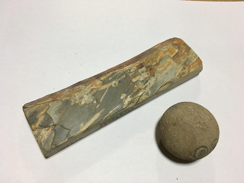 画像3: 天然砥石 中世中山 向ノ地町産三角株の上 0.6Kg 11071