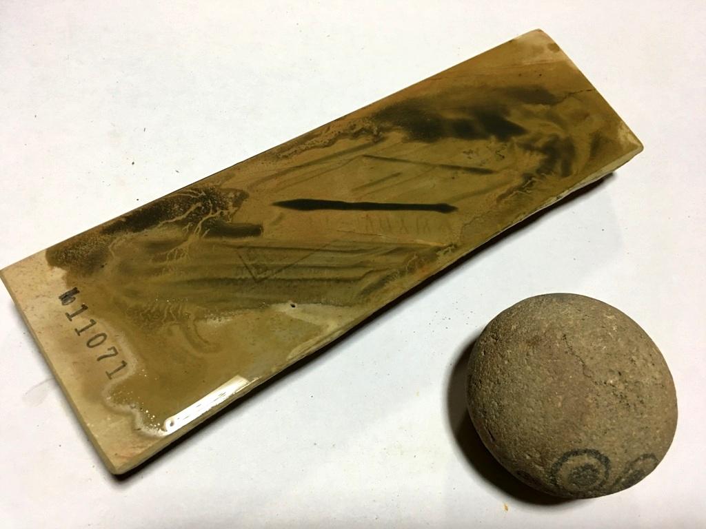 画像4: 天然砥石 中世中山 向ノ地町産三角株の上 0.6Kg 11071