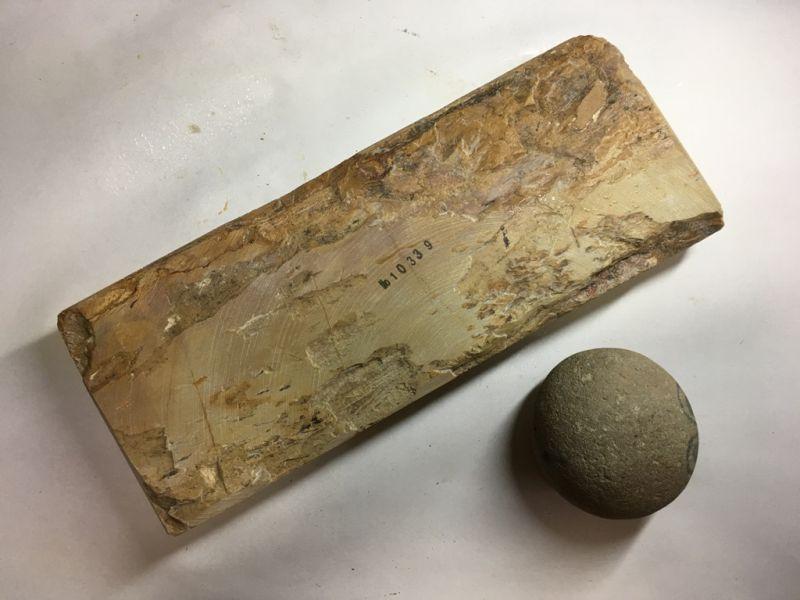 画像3: 天然砥石 正本山 山城銘砥奥殿巣板上冴卵色 1.6Kg 10339