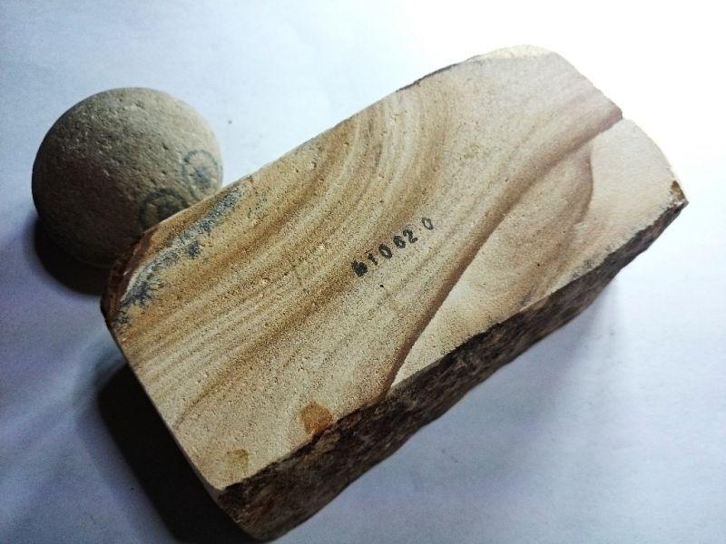 画像3: 天然砥石 古代伊豫銘砥 硬い木目がっつ板 1.4Kg 10620