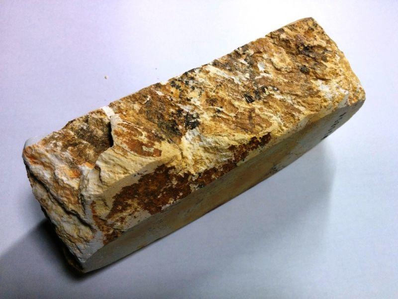 画像2: 伝統千五百年 天然砥石 古代伊豫銘砥  銘砥職キリ 1.1Kg 10854