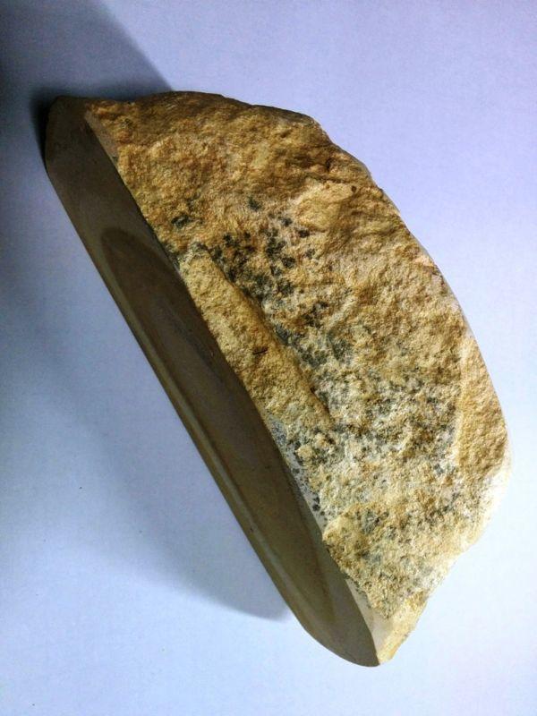 画像2: 伝統千五百年 天然砥石 古代伊豫銘砥  銘砥職キリ 1.5Kg 10855