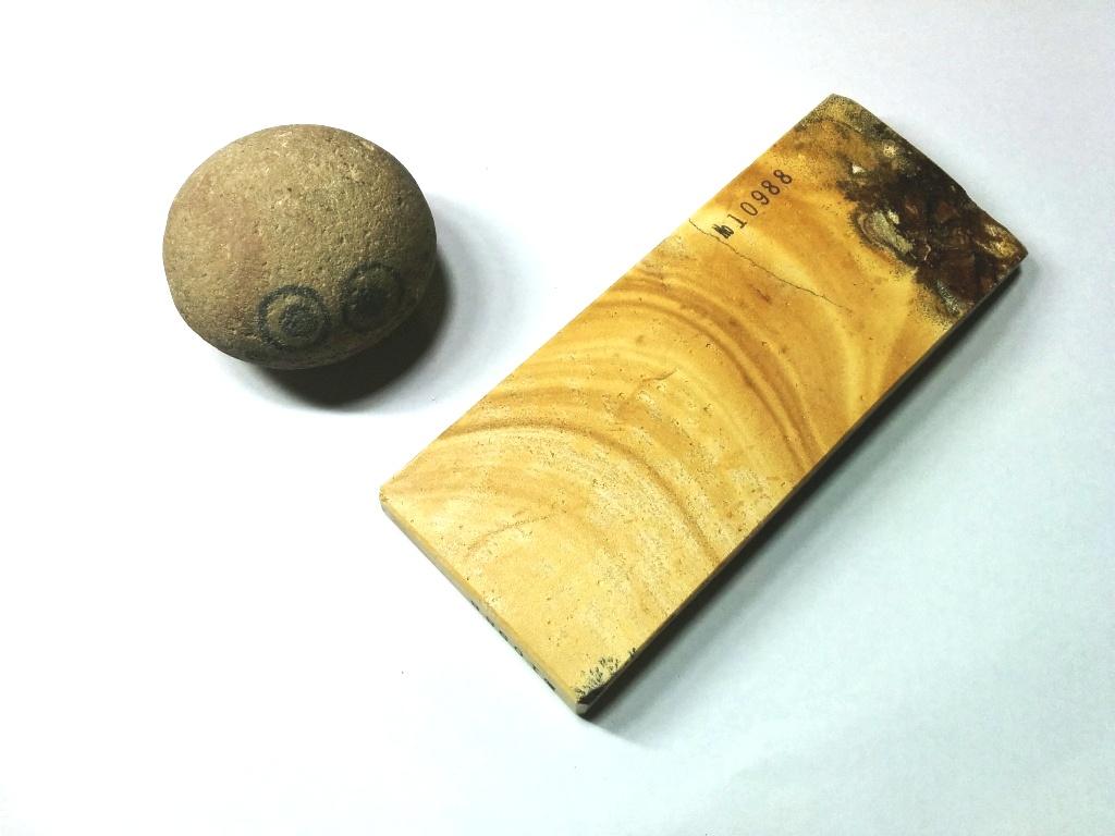 画像3: 伝統千五百年 天然砥石 古代伊豫銘砥  木目上 0.3Kg 10988