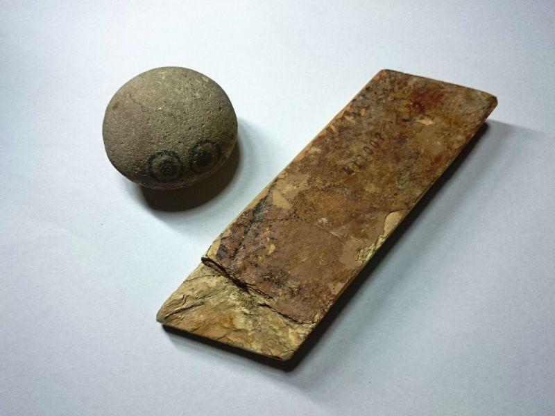 画像3: 天然砥石 奥殿本巣板まるし 0.5Kg 11007