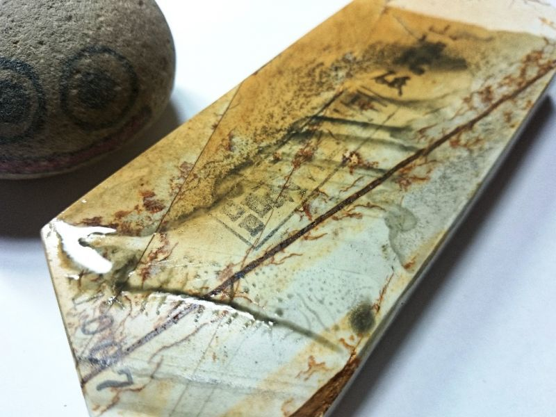 画像4: 天然砥石 奥殿本巣板まるし 0.5Kg 11007