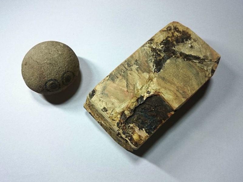 画像3: 天然砥石 中世中山戸前赤ぴん環巻硬い神銘砥 1Kg 11013