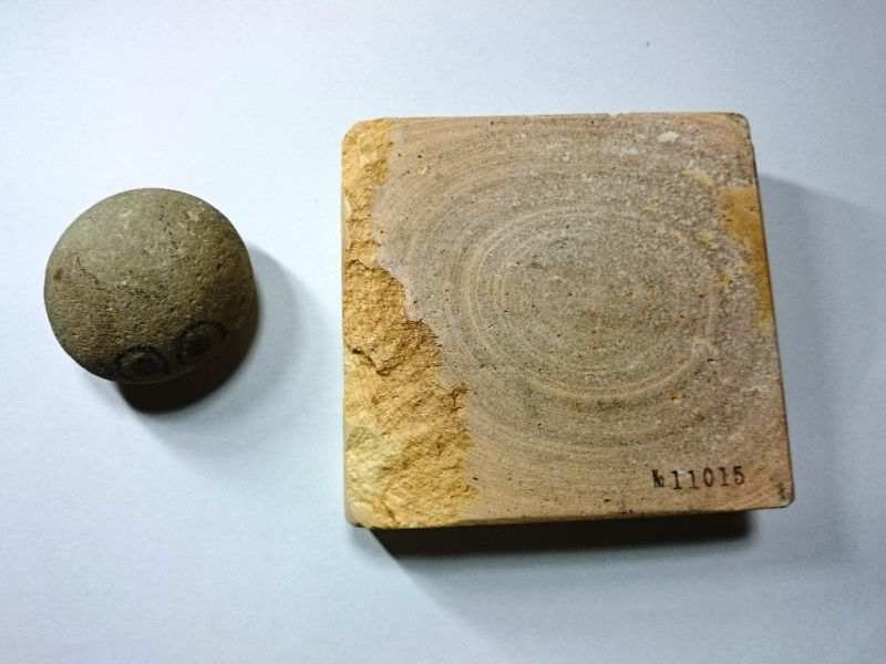 画像3: 伝統千五百年 天然砥石 古代伊豫銘砥  切株 1.4Kg 11015