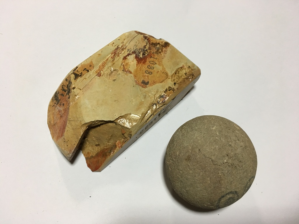 画像3: 天然砥石 奥殿戸前黄板歯朶付 0.4Kg 11033