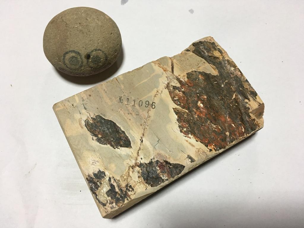 画像3: 天然砥石 中世中山戸前卵色べっ甲筋やわめ 0.9Kg 11096