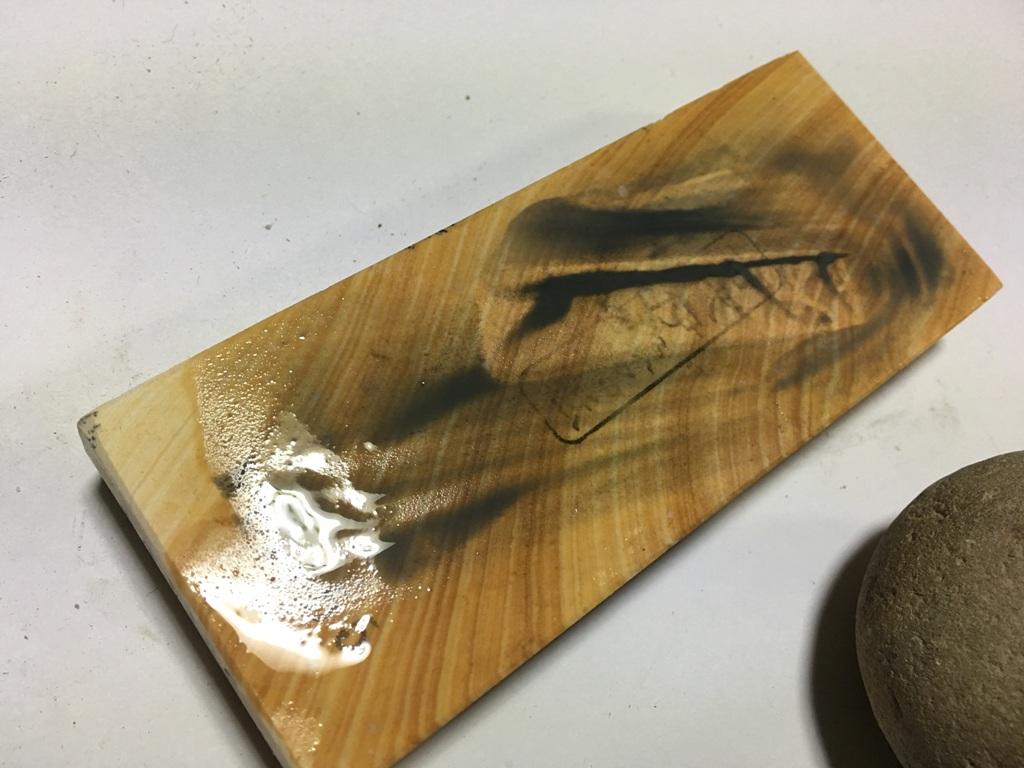 画像4: 天然砥石 奥殿本巣板羽二重 0.9Kg 11055
