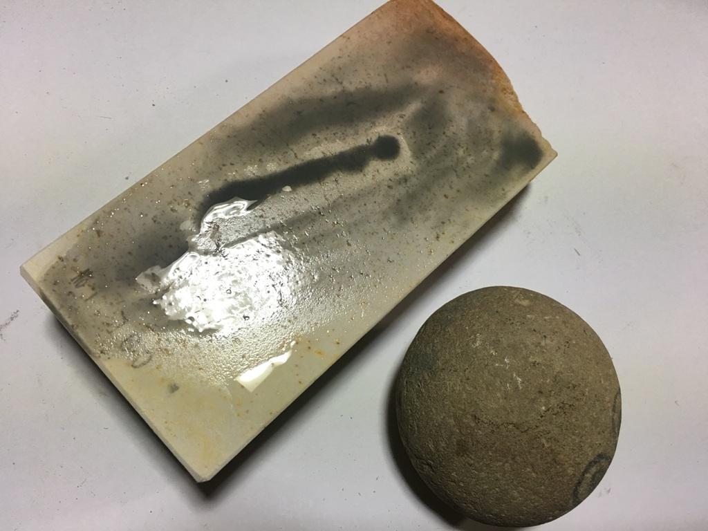 画像4: 伝統千五百年 天然砥石 古代伊豫銘砥   0.7Kg 11160