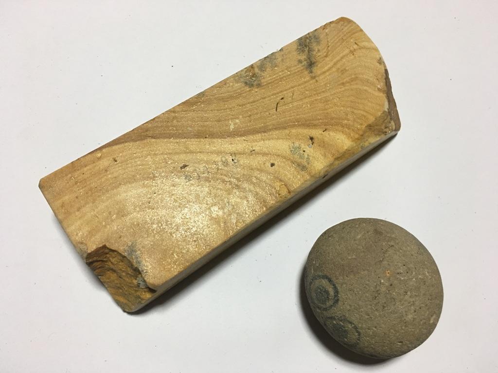 画像3: 伝統千五百年 天然砥石 古代伊豫銘砥  木目粘る上 0.8Kg 11192