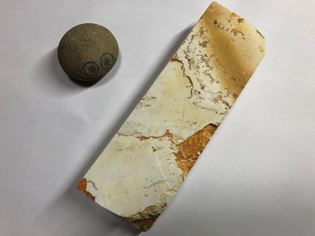 画像3: 伝統千五百年 天然砥石 古代伊豫銘砥 1,619g 11376