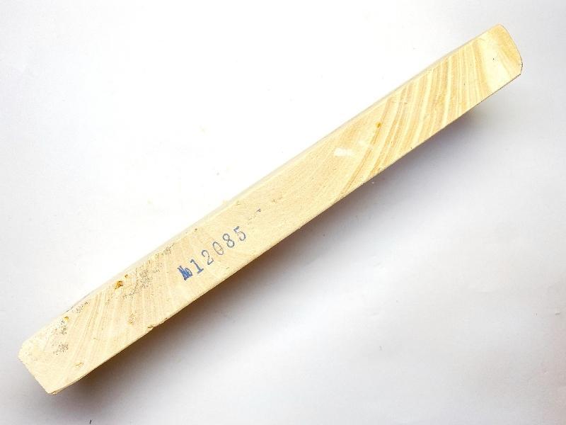 画像2: 伝統千五百年 天然砥石 古代伊豫銘 白 木目 餅もち大極上 490g 12085