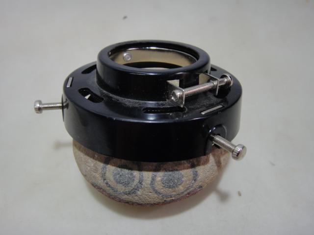 画像3: シェードとホルダー 安い工事用クリップライトがレトロ白笠電灯に変身!