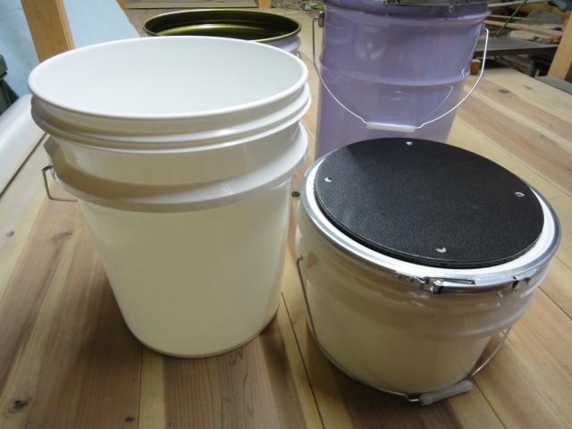 画像2: 銘砥さんおっちん金庫 天然砥石の養生保管 研ぎ水桶 腰掛