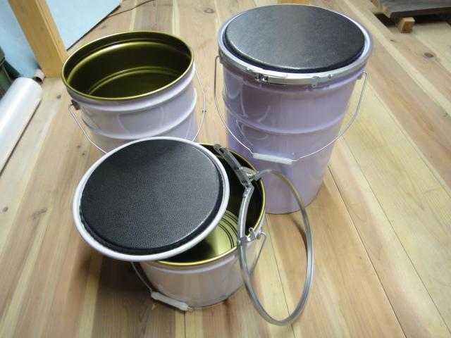 画像1: 銘砥さんおっちん金庫 天然砥石の養生保管 研ぎ水桶 腰掛
