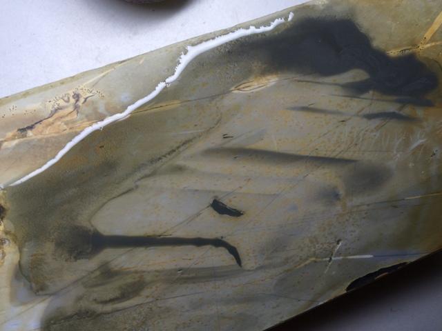 画像4: 天然砥石 正本山 山城銘砥 中世中山 敷き戸前のきわめて白い水浅黄烈梨地謎品種 7267