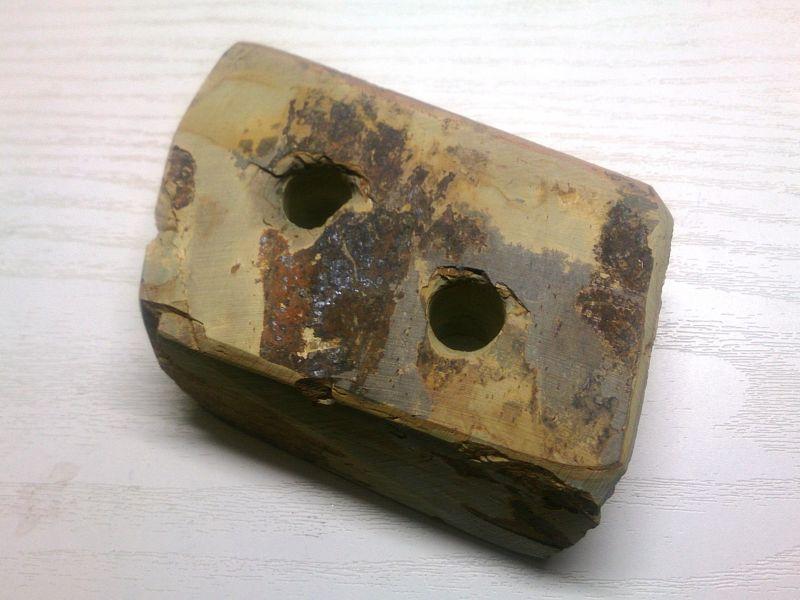 画像3: 天然砥石 山城mate 文鎮 歯ブラシ立て ペン立て ペーパーウエイト #3308さゞれ鉢素材 つぶしマッチ系粘板岩Z製
