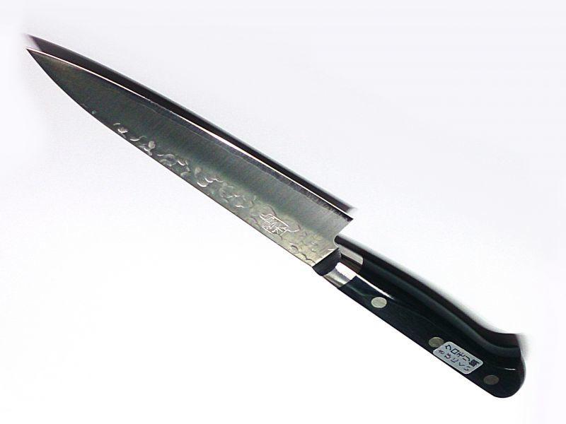 画像1: 送料無料 キリン クロモリ鋼 雲水包丁 1C 5Cr Mo V 準ステンレス鎚起鍛造鋼