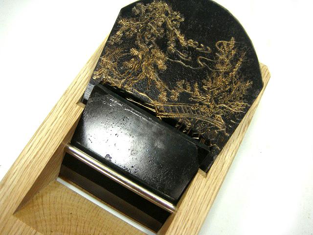 画像1: 常三郎×白鷹鋼 山水夢屏風鉋 古いスウェーデンサンドビック鋼