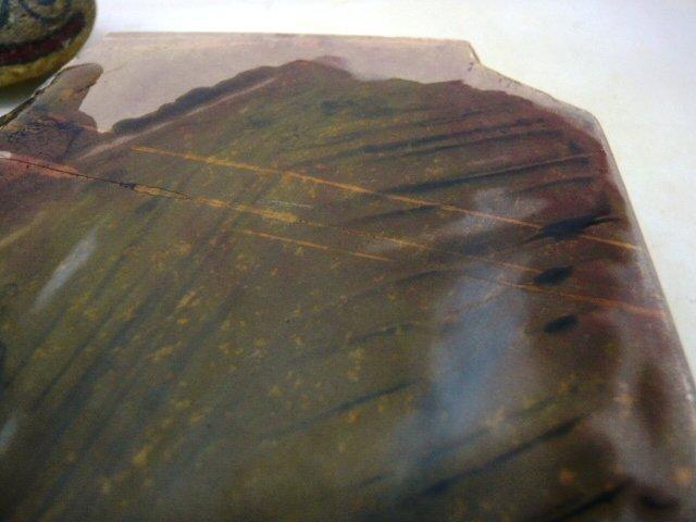 画像4: 天然砥石 山城銘砥 中世中山 戸前超紫緑混大極上烈硬 4451