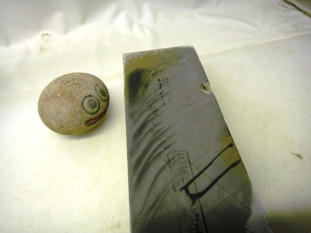 画像4: 天然砥石 山城銘砥 中世中山 水浅黄2丁かついた大極上 4599