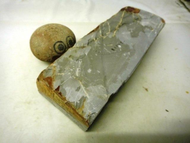 画像3: 天然砥石 山城銘砥 つけはだとおる典型やすり肌水浅黄 4601
