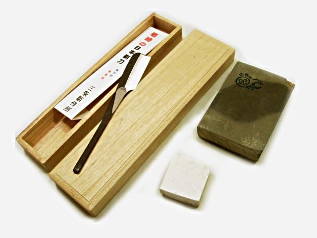 画像1: スウェーデンサンドビック鋼製 岩崎さんの日本剃刀一丁掛本刃付
