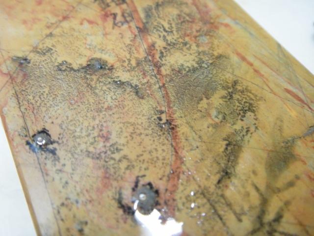 画像4: 天然砥石 山城銘砥 中世中山 あいさ原色オレンジとっても硬い 5868