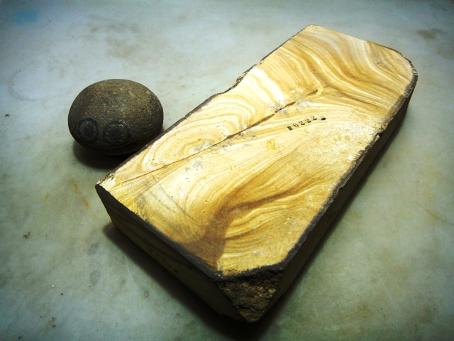 画像3: 天然砥石 古代伊豫銘砥 木 6222