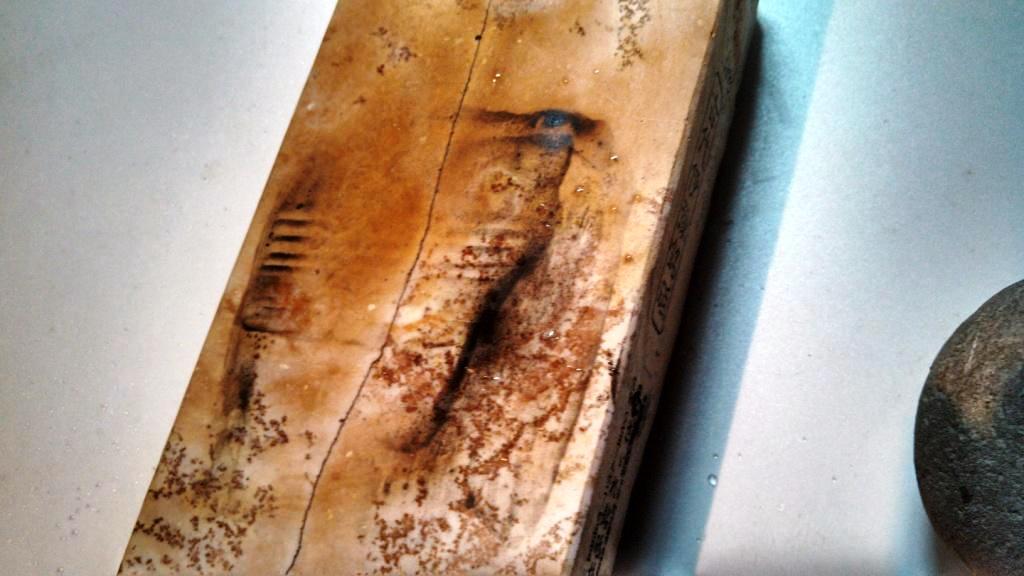 画像3: 天然砥石 古代伊豫銘砥 藝術銘砥紅葉と木目硬い 6890