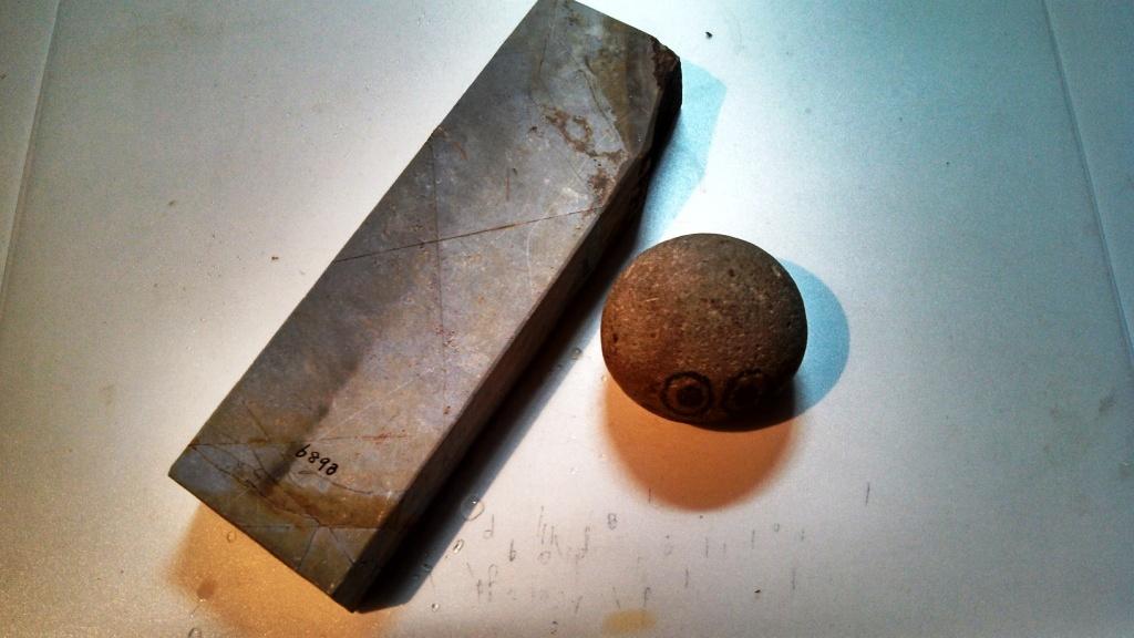 画像1: 天然砥石 大平山天井巣板硬い 6893