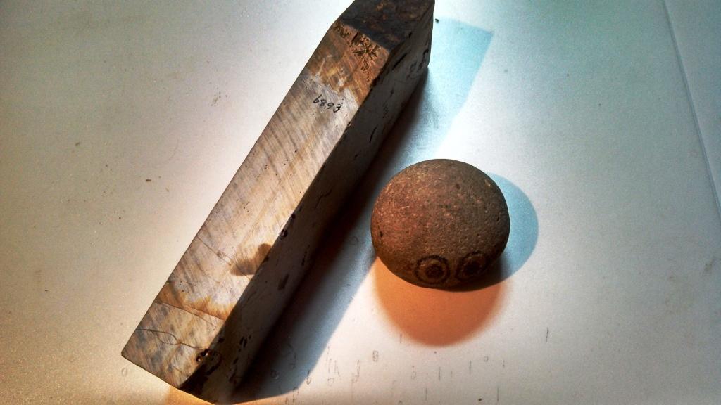 画像2: 天然砥石 大平山天井巣板硬い 6893