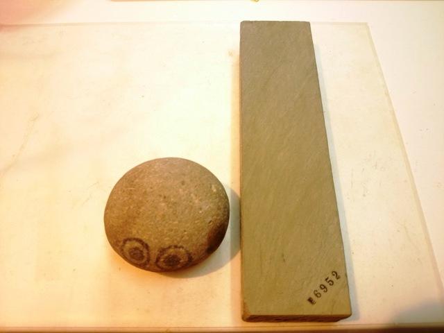 画像1: 天然砥石 正本山 山城銘砥 親方ストック 6952