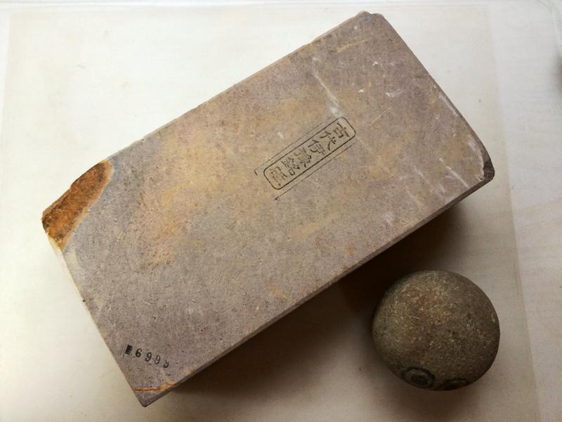 画像1: 天然砥石古代伊予銘砥 むらさき巨漢 6999