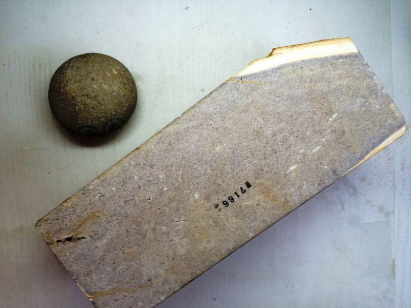画像2: 天然砥石 古代伊豫銘砥 むらさきむちむち 7166 7166