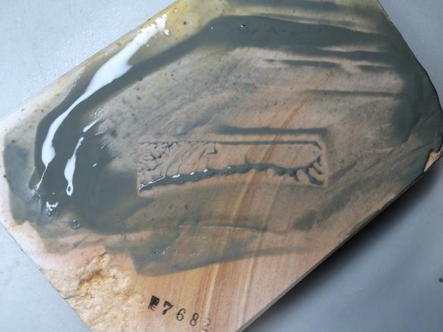 画像4: 天然砥石 古代伊豫銘砥 のみ 鉋 包丁 木目じょり 7682