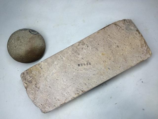画像3: 天然砥石 古代伊豫銘砥 のみ 鉋 包丁 やわらかむらさき 7686