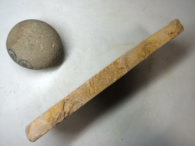 画像2: 天然砥石 古代伊豫銘砥 のみ 鉋 包丁 選べるちび砥石 7696