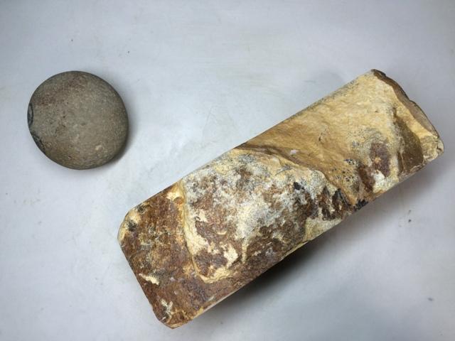 画像2: 天然砥石 古代伊豫銘砥 のみ 鉋 包丁 木目岩肌残し 7699