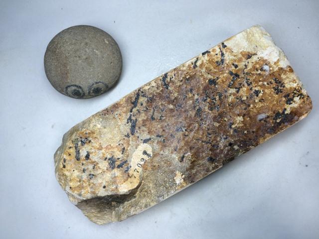 画像3: 天然砥石 古代伊豫銘砥 のみ 鉋 包丁 白じょりじょり 7702