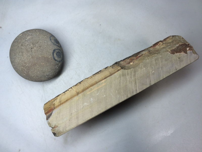 画像2: 天然砥石 正本山 山城銘砥 奥殿うぐいすいた 7979
