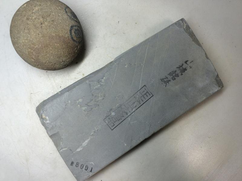 画像1: 天然砥石 正本山 山城銘砥 奥殿まるし 8001