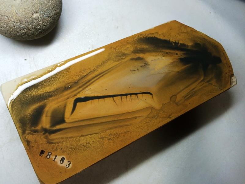 画像4: 天然砥石 正本山 山城銘砥 奥殿本巣板?原色黄色80 1Kg 8183