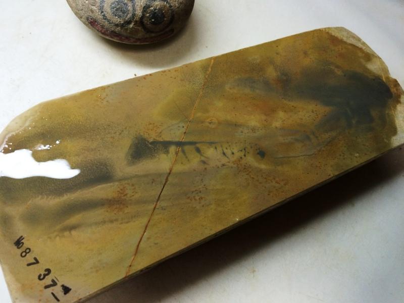 画像4: 天然砥石 正本山 山城銘砥中世中山梨地いっぱい0.8Kg 8737