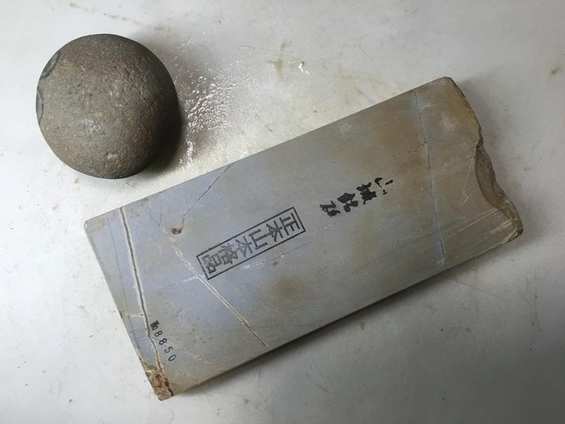 画像1: 天然砥石 正本山 山城銘砥中世中山巣板0.8Kg 8850