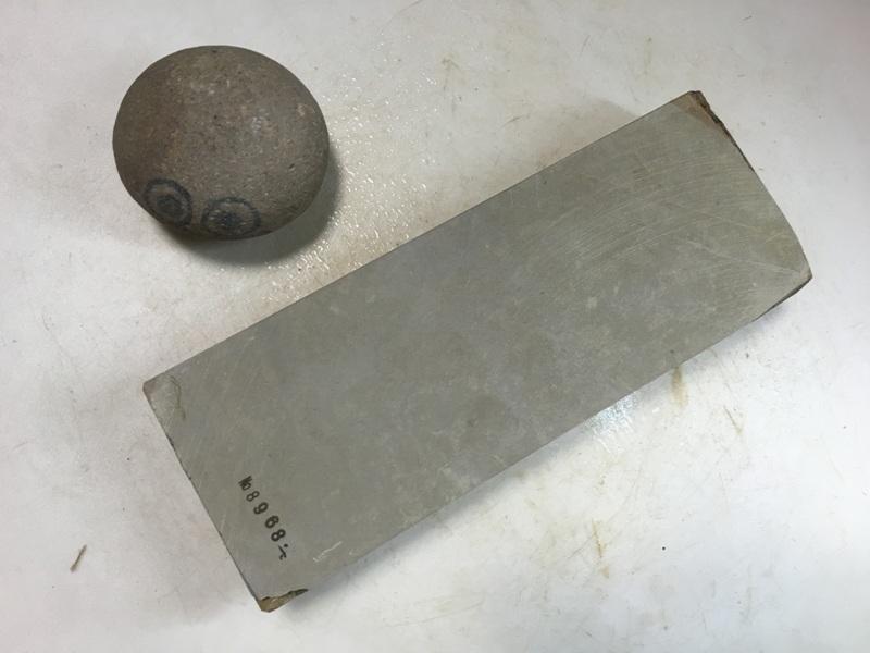 画像1: 天然砥石 美山 かたい1.1Kg 8968